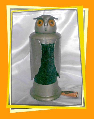 Vintage Musical Owl Decanter ~ For Hes a Jolly Good Fellow