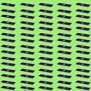 "Stick Edger Blades Box of 75 .120 Thick  8"" X 2"" X 1"" Hole"