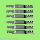 6 - 10073 Rotary lawnmower blades to replace John Deere M128485 Mulcher