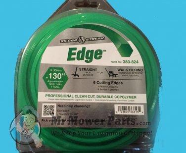 "Silver Streak Edge Hexagon String Trimmer Line .130"" Gauge 145 ' # 380-824"
