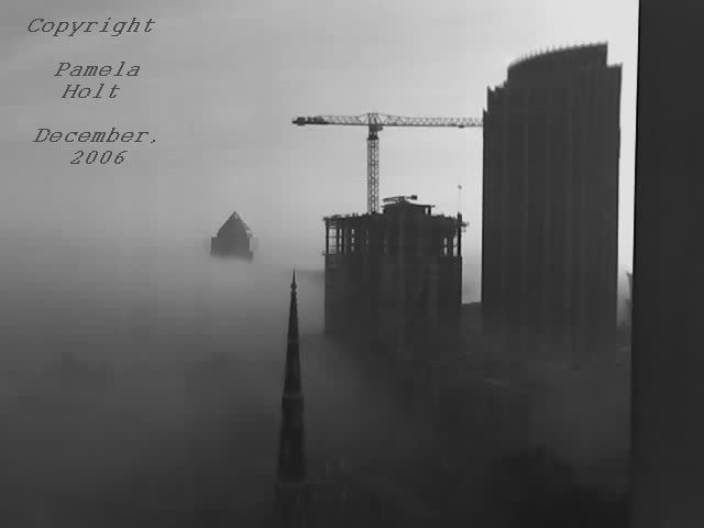 Charlotte Foggy Buildings