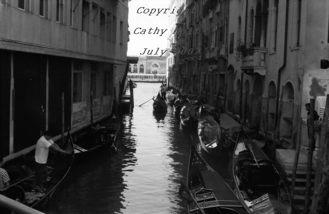 """Avoid hitting the other gondolas""  Venice, Italy"