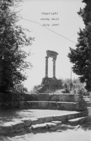 Pompeii in Black & White #7 - Temple to Venus(?)