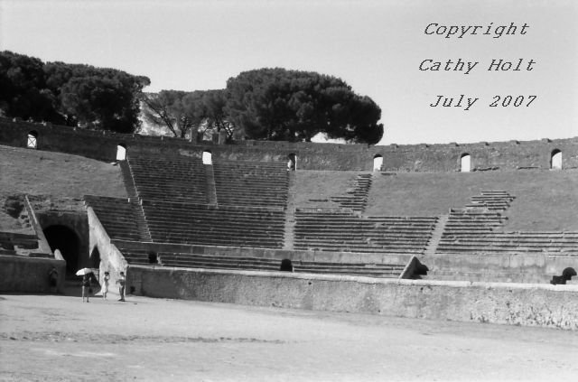 Pompeii in Black & White #9 - Ampitheatre
