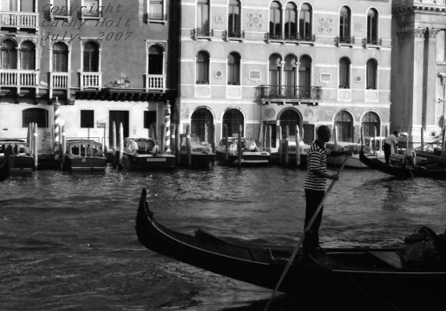 Life on the Grand Canal, Venice, Italy