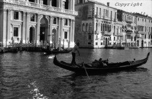 Rowing Away, Venice, Italy