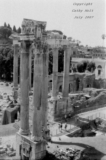 View of the Forum from the Campidoglio, Rome, Italy