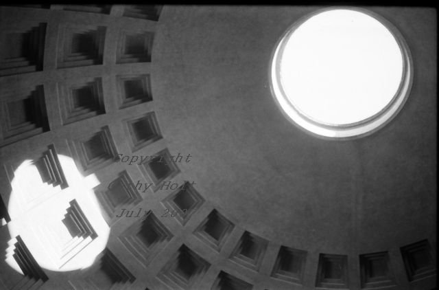 Pantheon in Rome - Oculus - Single Photograph