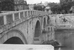 """Four Arches""  Tiber River Bridge, Rome, Italy"