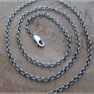 Thai sterling silver ring chain link necklace