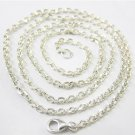 Sterling silver shine chunky chain link necklace