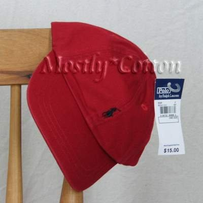 Polo Ralph Lauren INFANT Boys BASEBALL Hat Cap RED New