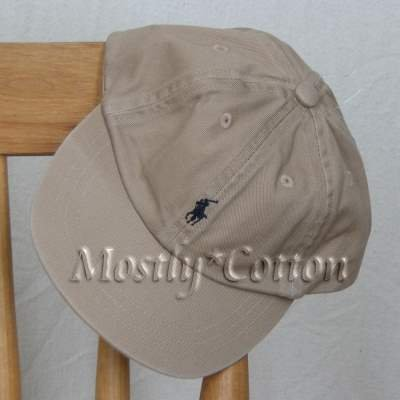 NwT Polo Ralph Lauren INFANT Boys Baseball Hat Cap KHAKI New with Tags