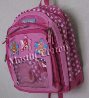 CARE BEARS Pink BACKPACK School Book Bag BONUS Zipper Bags NwT New With Tags
