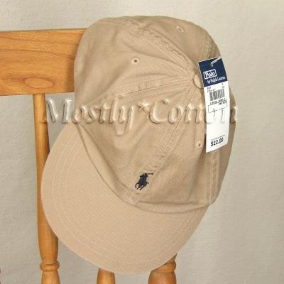 Polo Ralph Lauren TODDLER Boys Baseball Cap Hat KHAKI NwT New with Tags