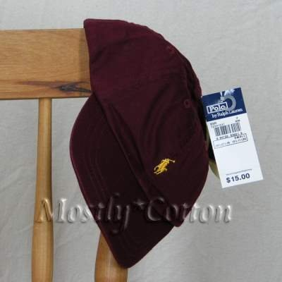 Polo Ralph Lauren TODDLER Boys Baseball Cap Hat BURGUNDY MAROON NwT New  with Tags 6887a44df2f