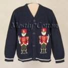 STANDARD BLUES boys NAVY BLUE Nutcracker HOLIDAY Cotton Ramie CARDIGAN SWEATER 4 NwT NEW with Tags