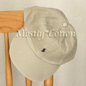 Polo Ralph Lauren BOYS Baseball Cap Hat KHAKI 4 5 6 7 MEDIUM New