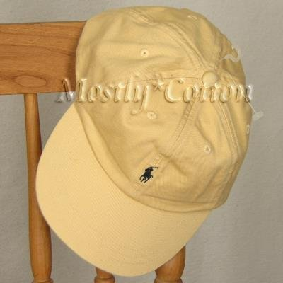 Polo Ralph Lauren BOYS Baseball Cap Hat YELLOW 4 5 6 7 MEDIUM New