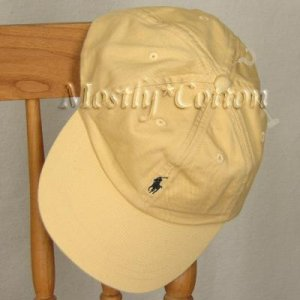 Polo Ralph Lauren BOYS Baseball Cap Hat YELLOW 4 5 6 7 MEDIUM New