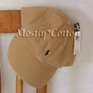 Polo Ralph Lauren BOYS Baseball Cap Hat TAN KHAKI 4 5 6 7 MEDIUM New