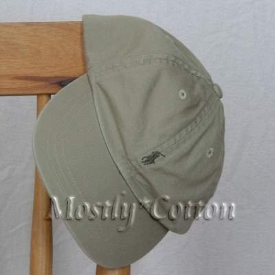 Polo Ralph Lauren BOYS Baseball Cap Hat OLIVE KHAKI 4 5 6 7 MEDIUM New