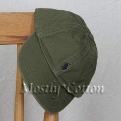 NEW Polo Ralph Lauren Boys BASEBALL Hat GREEN 4 5 6 7 Medium