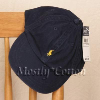 Polo Ralph Lauren BOYS Baseball Cap Hat NAVY BLUE 4 5 6 7 MEDIUM New