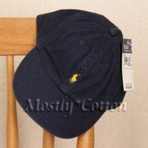 Polo Ralph Lauren BOYS Baseball Cap Hat NAVY BLUE 4 5 6 7 MEDIUM New