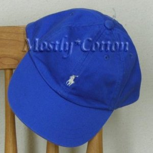 Polo Ralph Lauren BOYS Baseball Cap Hat ROYAL BLUE 4 5 6 7 MEDIUM NwT New with Tags