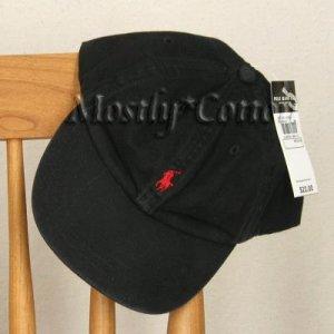Polo Ralph Lauren BOYS Baseball Cap Hat BLACK 4 5 6 7 MEDIUM NwT New with Tags