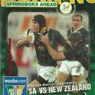 South Africa v New Zealand 2004 Tri Nations Match Programme