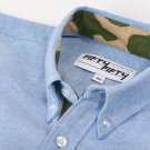 Blue Camo Lined Oxford Shirt - Large