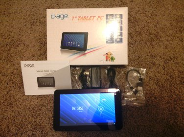 """NEW 7"""" D.age Dual Camera Android Tablet"""