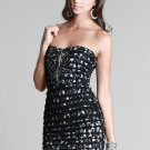 Niki Biki Black Lace Tiered Dress Jewel Embellishments Size Small or Medium