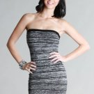 NEW Black Sexy Striped Sweater Tube Dress Size Small Medium or Large