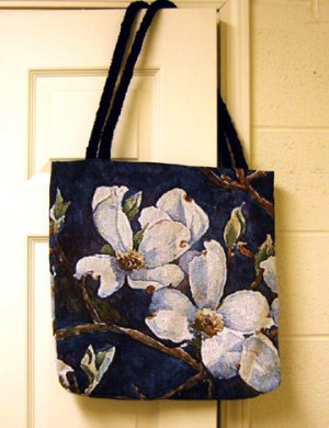 Woven Dogwood Tote Bag