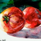 2 Red Tomatoes- reproduction/print