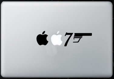 007 James Bond MacBook Air-Pro 11 13 15 17 Vinyl Stickers, Skin, Decal