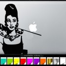 Audrey Hepburn holding cat MacBook Air-Pro 11 13 15 17 Vinyl Stickers, Skin, Decal