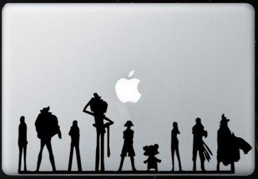 One Piece Team  MacBook Air-Pro 11 13 15 17 Vinyl Stickers, Skin, Decal