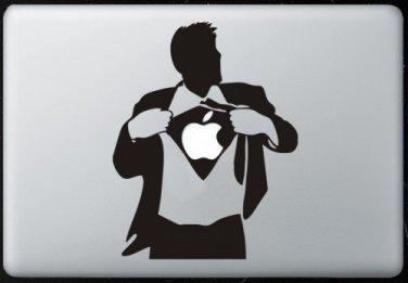 Superman Apple MacBook Air-Pro  13 15 17 Stickers  laptop Vinyl Decal Skins