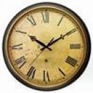 Deep Case Distressed Resin Wall Clock