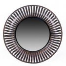 Round Iron Mirror - Beveled Glass
