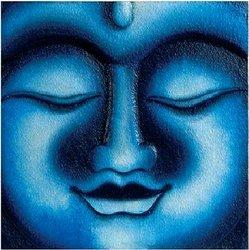Blue Buddha Wall Plaque