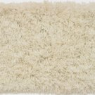 White Solid Shag Carpet 5x7
