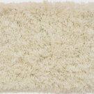 White Solid Shag Carpet 5x7