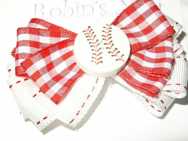 All American Baseball Hairbow