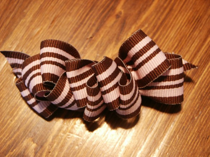 Pink and Brown Sheek Hairbow