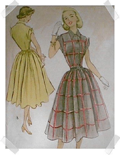 McCalls Shirtwaist Dress Pattern #8796 c.1951